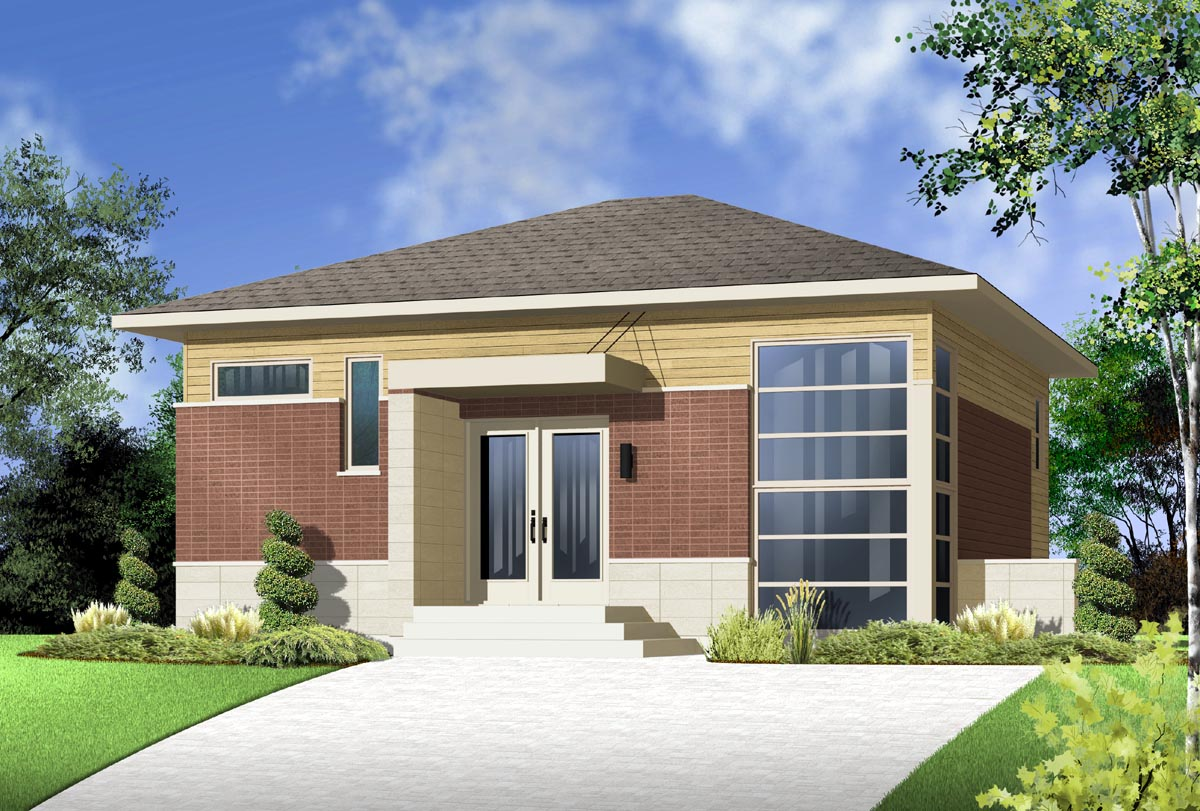 House plan 76299 at for Fachadas chalets clasicos