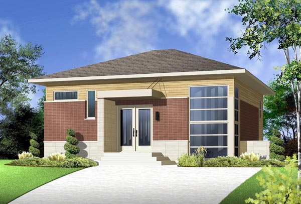Contemporary Modern House Plan 76299 Elevation