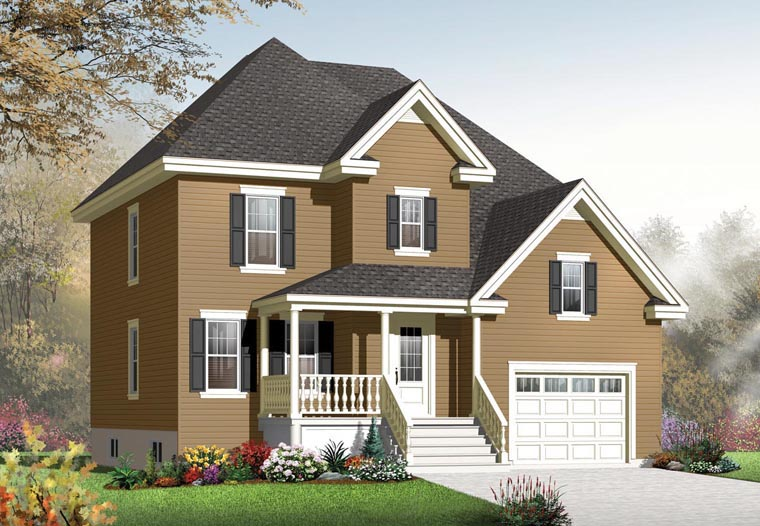Country European House Plan 76300 Elevation