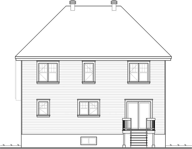Country European House Plan 76300 Rear Elevation