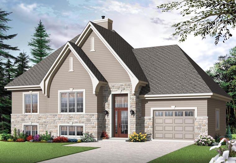 European House Plan 76302 Elevation