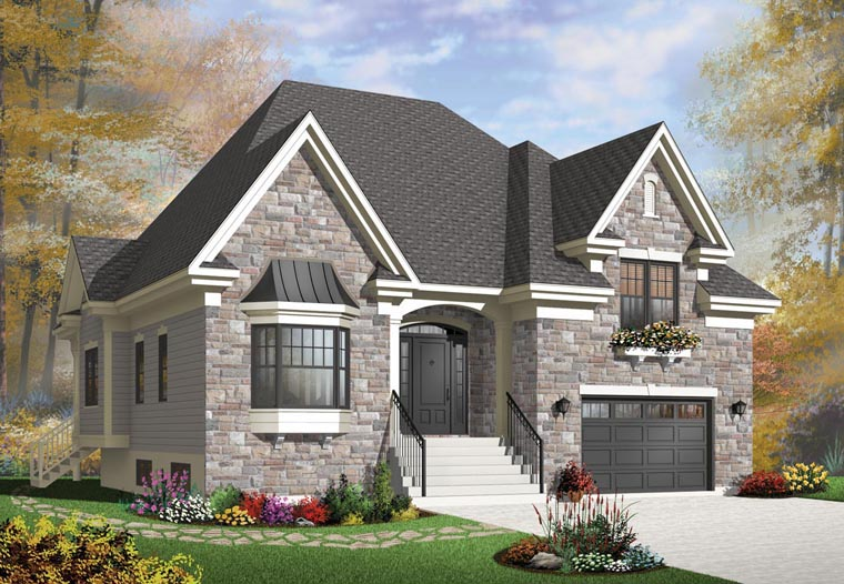 House plan 76303 at for European estate house plans