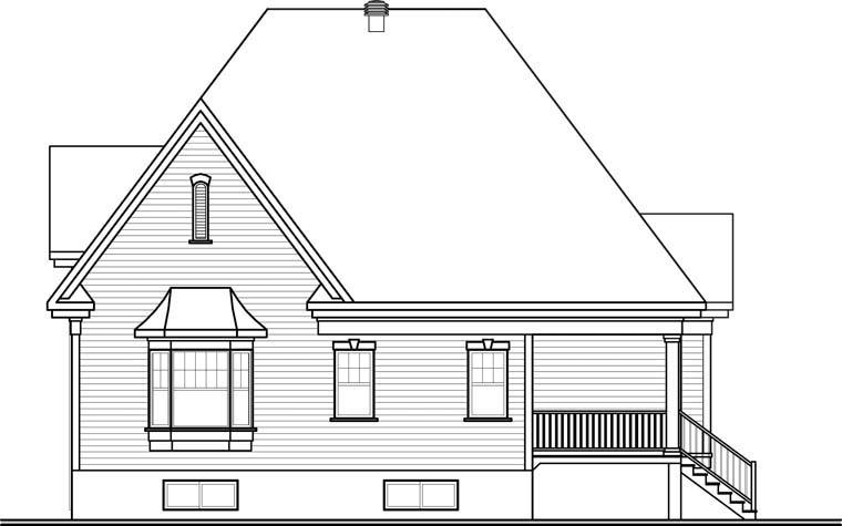 European House Plan 76303 Rear Elevation