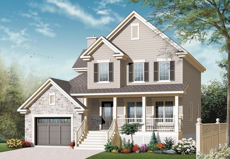 Country European House Plan 76304 Elevation