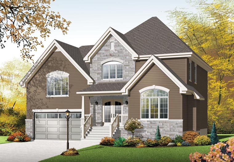 European House Plan 76305 Elevation