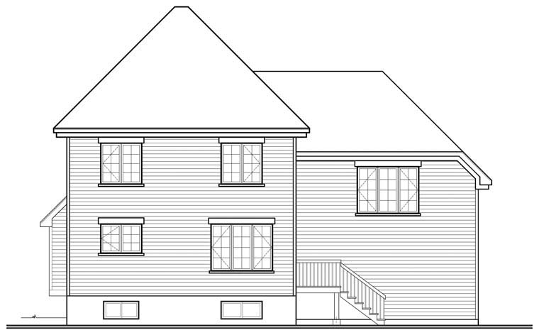 European House Plan 76305 Rear Elevation