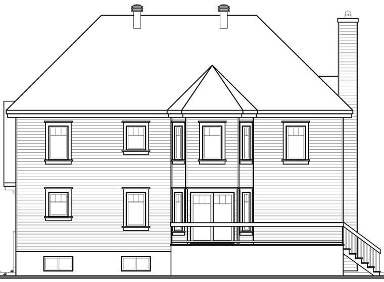 House Plan 76306 Rear Elevation