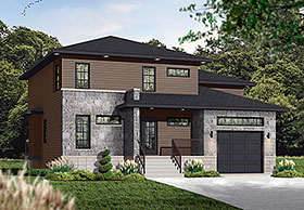 Contemporary Modern House Plan 76307 Elevation