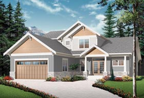 House Plan 76310   Craftsman Style Plan with 2614 Sq Ft, 4 Bedrooms, 4 Bathrooms, 2 Car Garage Elevation