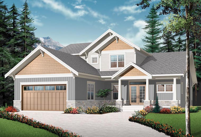 Craftsman House Plan 76310 Elevation