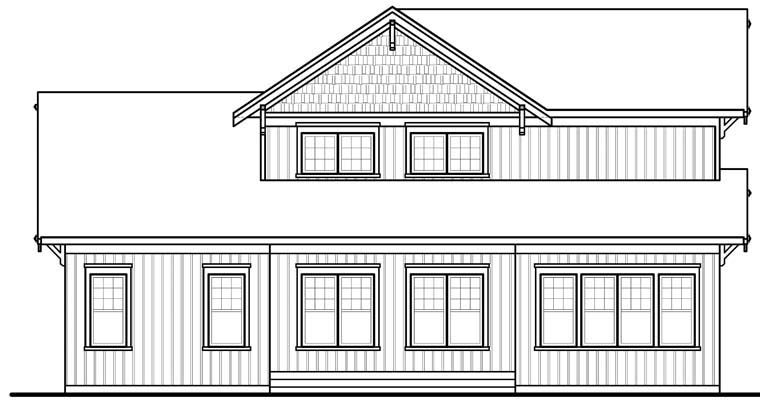 Craftsman House Plan 76310 Rear Elevation