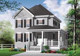 House Plan 76311 | Country Style Plan with 1712 Sq Ft, 3 Bedrooms, 2 Bathrooms Elevation