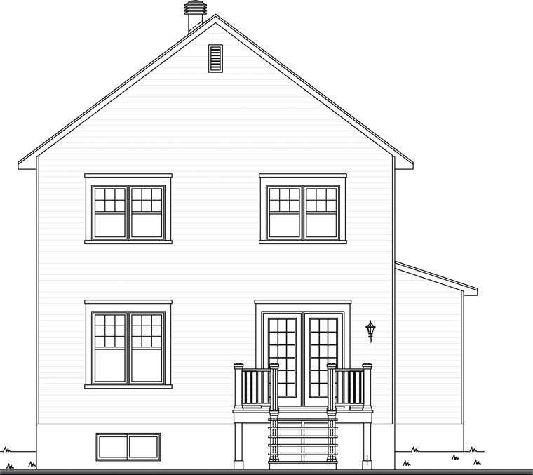 Country House Plan 76312 Rear Elevation
