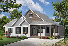 Cape Cod Country House Plan 76313 Elevation