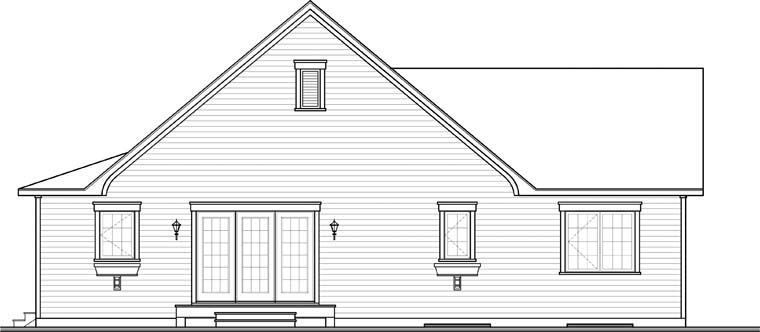 Cape Cod Country House Plan 76313 Rear Elevation
