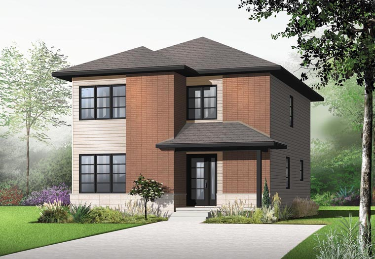 Contemporary Modern House Plan 76316 Elevation