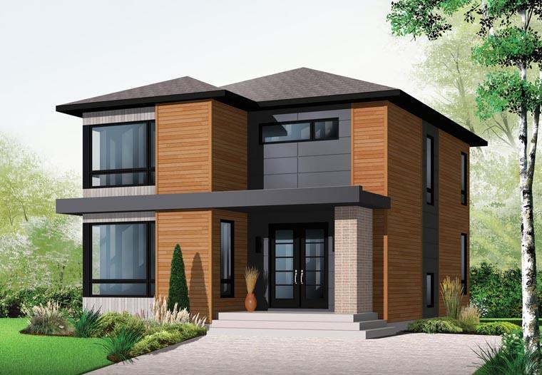 Contemporary Modern House Plan 76317 Elevation