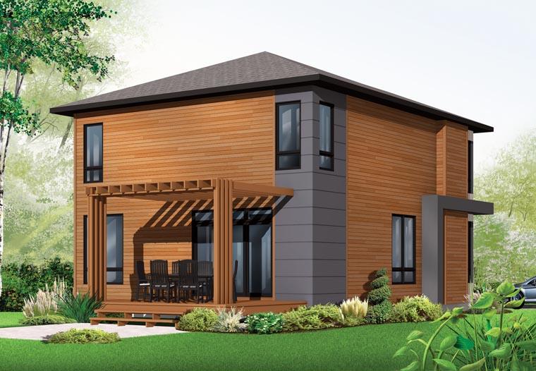 Contemporary Modern House Plan 76317 Rear Elevation