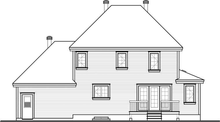 Country House Plan 76318 Rear Elevation