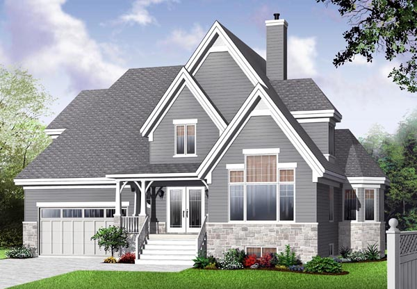 Country European House Plan 76319 Elevation