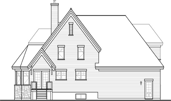 Country European House Plan 76319 Rear Elevation