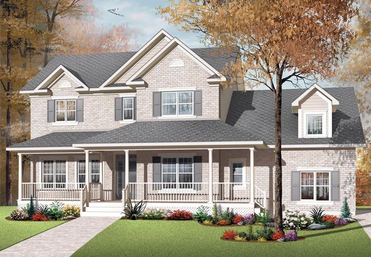 Country European Farmhouse House Plan 76320 Elevation