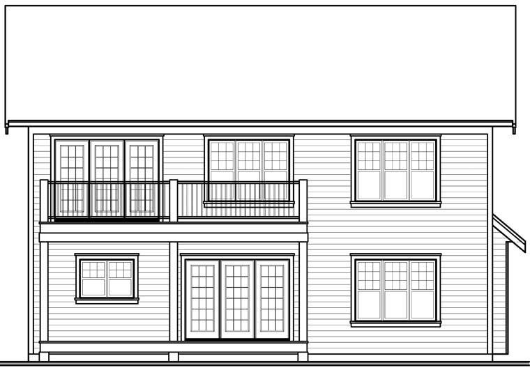 Craftsman House Plan 76321 Rear Elevation