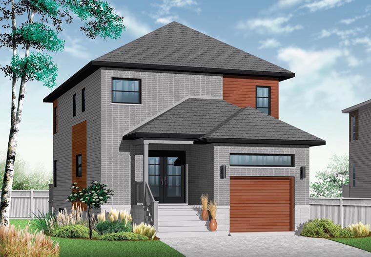 Contemporary Modern House Plan 76327 Elevation