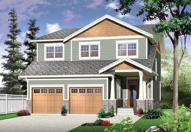 Country Craftsman Elevation of Plan 76328