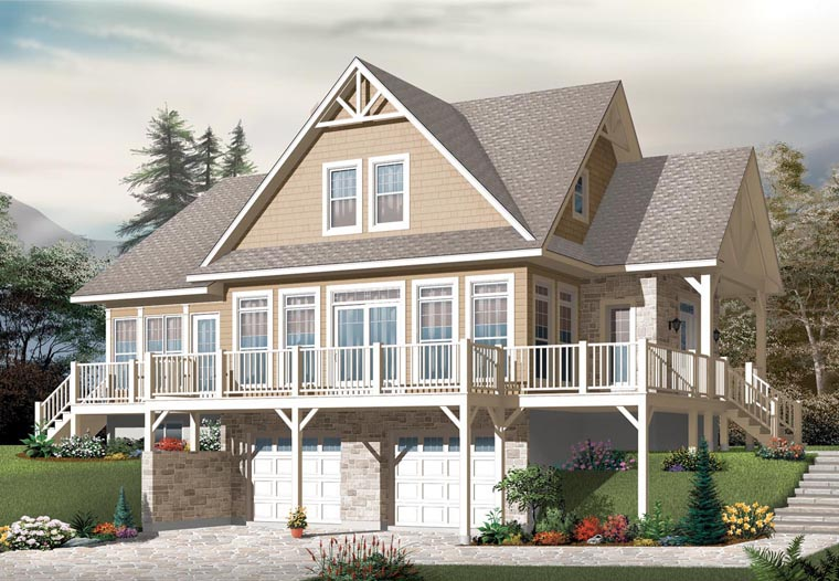 Cottage Country Craftsman House Plan 76329 Elevation