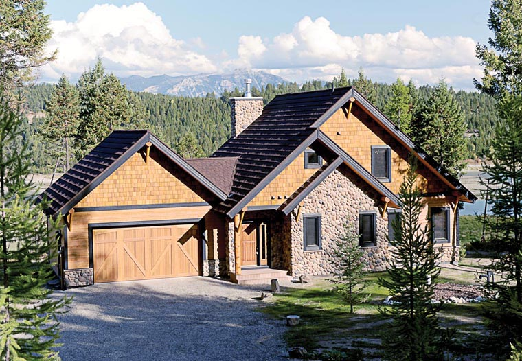 House Plan 76330 | Cottage Country Craftsman Style Plan with 1816 Sq Ft, 3 Bedrooms, 3 Bathrooms, 2 Car Garage Elevation