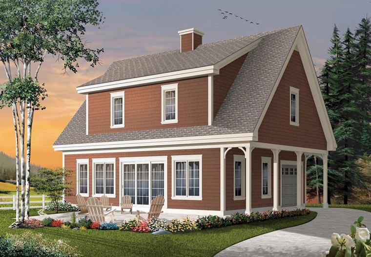 Cape Cod Cottage Craftsman House Plan 76333 Elevation