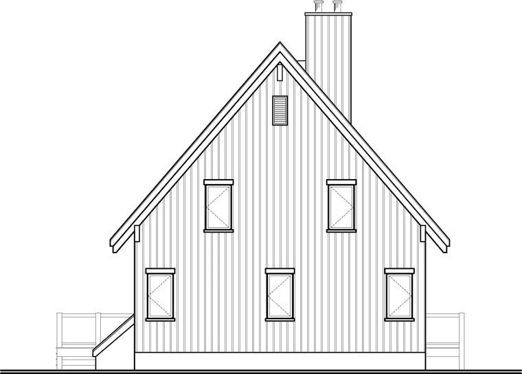Cottage Craftsman House Plan 76334 Rear Elevation