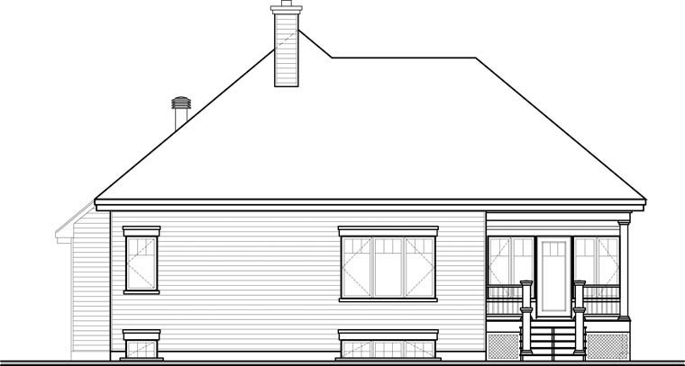 Cottage House Plan 76335 Rear Elevation