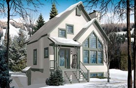 Cottage Country Craftsman House Plan 76336 Elevation