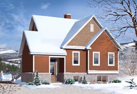 House Plan 76338 | Cottage Craftsman Style Plan with 1742 Sq Ft, 3 Bedrooms, 2 Bathrooms Elevation