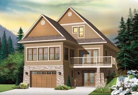 Country Craftsman House Plan 76341 Elevation