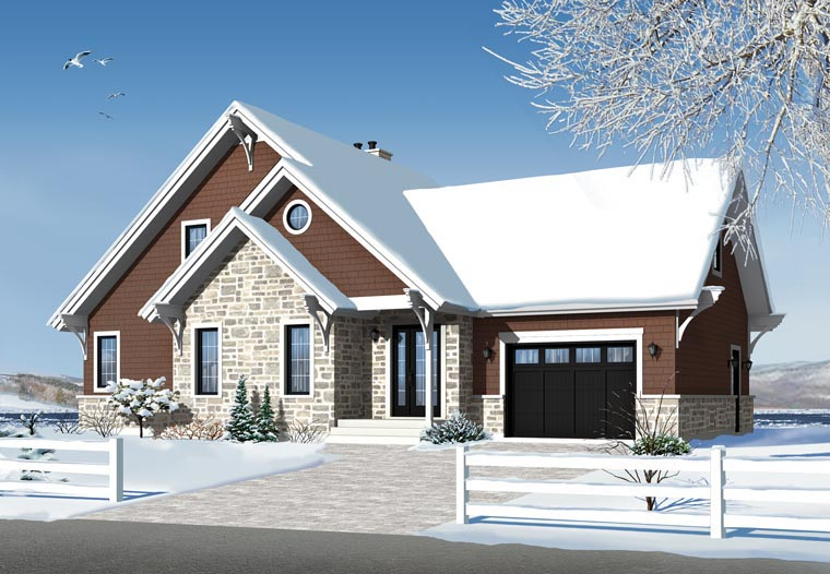 House plan 76342 at for Modular quadplex