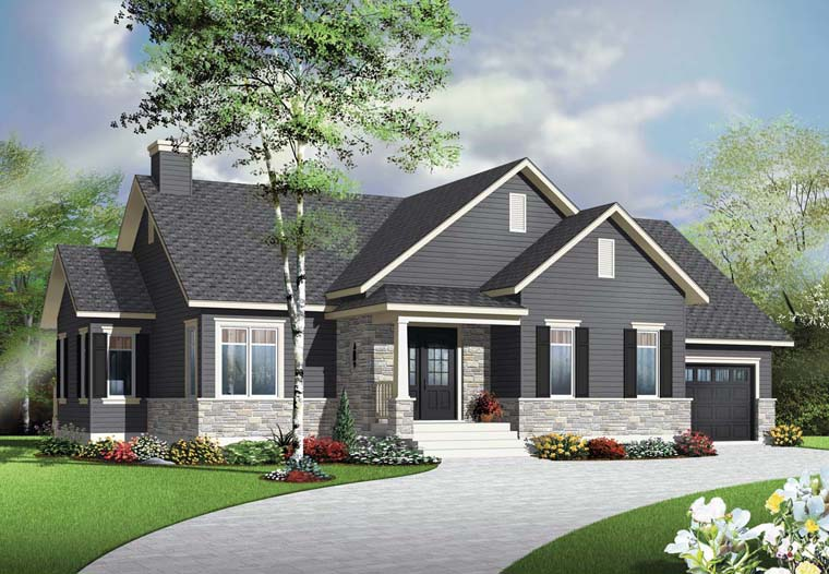 Country Craftsman House Plan 76345 Elevation