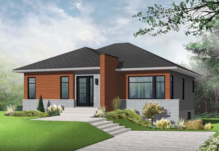 Contemporary Modern House Plan 76346 Elevation