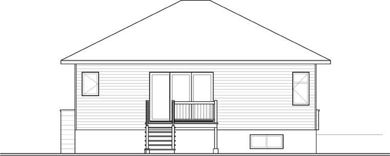 Contemporary Modern House Plan 76346 Rear Elevation
