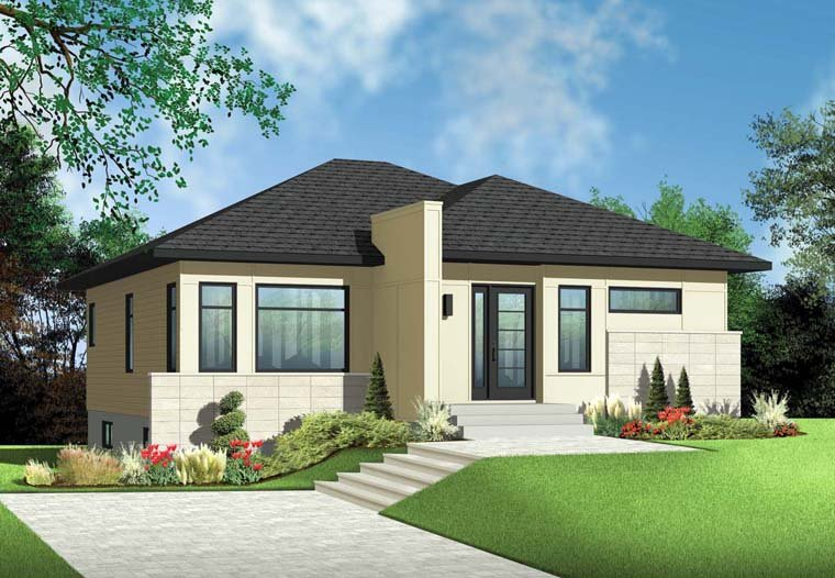 Contemporary House Plan 76347 Elevation