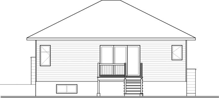 Contemporary House Plan 76347 Rear Elevation