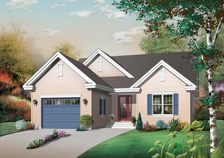 Country House Plan 76348 Elevation