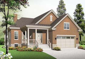 Country Craftsman House Plan 76349 Elevation