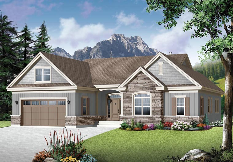 Country Craftsman House Plan 76350 Elevation