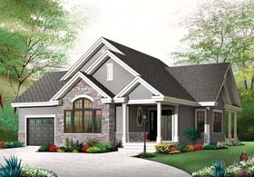 Country Craftsman House Plan 76351 Elevation