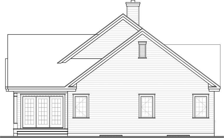 Country Craftsman House Plan 76351 Rear Elevation
