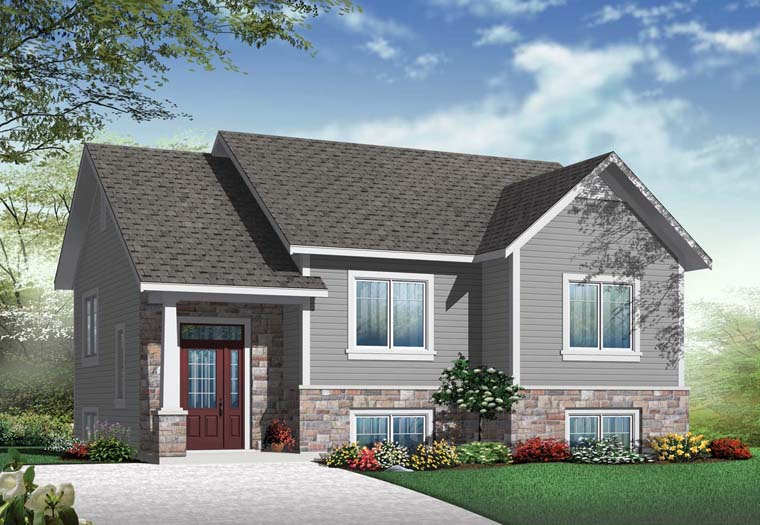 Craftsman House Plan 76358 Elevation