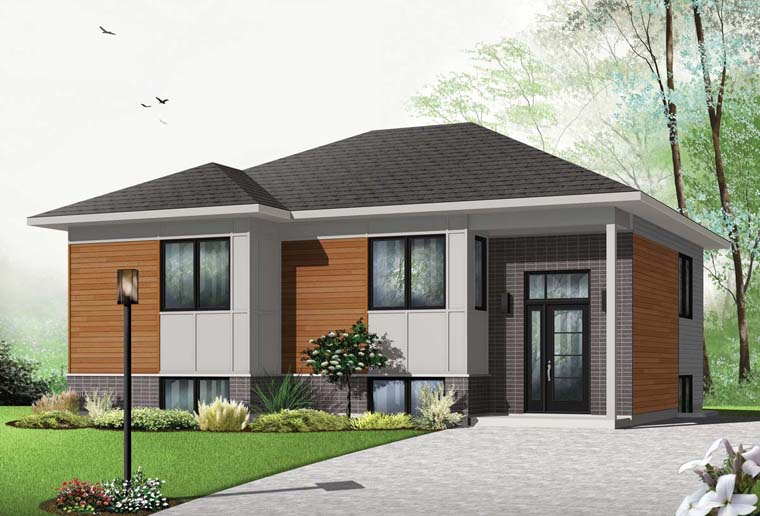 Contemporary House Plan 76359 with 2 Beds, 1 Baths Elevation